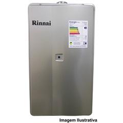 Aquecedor de Agua a Gás Reu 2802 Glp 35,5 Litros Prata Bivolt   - Rinnai