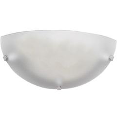 Arandela Clean Branco Dourado 30cm - LLUM Bronzearte