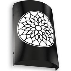 Arandela em Aço Bivolt Arco Árabe Preta 6000k Luz Branca - RCG Tecnologia