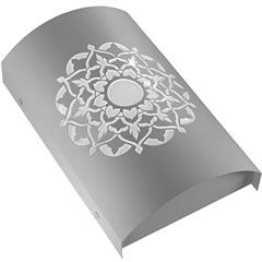 Arandela em Aço Bivolt Arco Indiana Branca 6000k Luz Branca - RCG Tecnologia