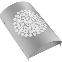 Arandela em Aço Bivolt Arco Rosácea Católica Branca 6000k Luz Branca - RCG Tecnologia