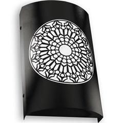 Arandela em Aço Bivolt Arco Rosácea Católica Preta 6000k Luz Branca - RCG Tecnologia