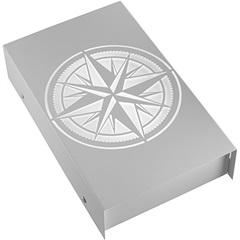 Arandela em Aço Bivolt Reta Rosa dos Ventos Branca 6000k Luz Branca - RCG Tecnologia