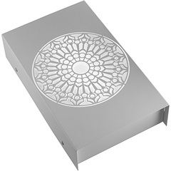 Arandela em Aço Bivolt Reta Rosácea Católica Branca 6000k Luz Branca - RCG Tecnologia