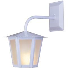 Arandela em Aço para 1 Lâmpada Colonial 30x19cm Branca - Ideal Iluminação