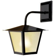 Arandela em Aço para 1 Lâmpada Colonial 32x20cm Preta - Ideal Iluminação