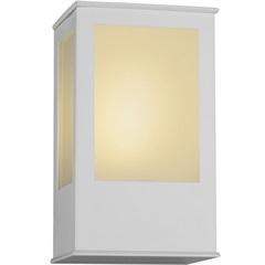 Arandela em Alumínio com Vidro Bolt 20x12,5cm Branca - Ideal Iluminação