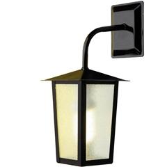 Arandela em Alumínio para 1 Lâmpada Colonial 36x15cm Preta - Ideal Iluminação
