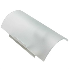 Arandela Paulistinha com Vidro Quadrado Fosco Branca - Franzmar