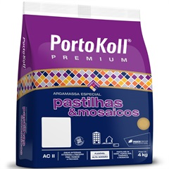 Argamassa Ac 2 para Pastilhas E Mosaicos Branca 4kg - Portokoll