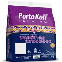 Argamassa Ac 2 para Pastilhas E Mosaicos Cinza Palha 4kg - Portokoll