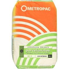 Argamassa Ac 2 para Porcelanatos Interna Branca 20kg - Metropac