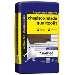Argamassa Adesiva Chapisco Rolado Cinza Saco Plástico 20kg - Quartzolit