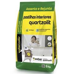 Argamassa Assenta E Rejunta Pastilhas Interiores Branco 5kg - Quartzolit