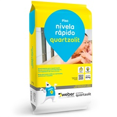 Argamassa Autonivelante Nivela Rápido Cinza 20kg - Quartzolit