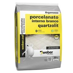 Argamassa Colante para Porcelanato Interno Branco Saco Plástico 20kg