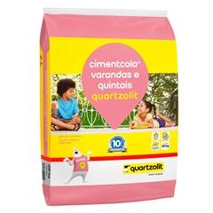 Argamassa Colante Varandas E Quintais Cinza 20kg - Quartzolit