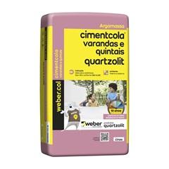Argamassa Colante Varandas E Quintais Cinza 20kg