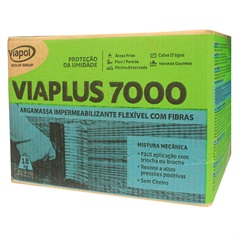 Argamassa Impermeabilizante com Fibras Viaplus 7000 Cinza 18kg - Viapol