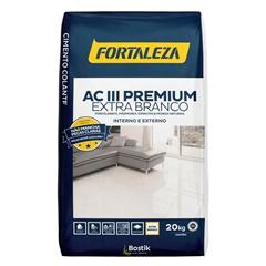Argamassa para Mármore E Granito Cimento Colante Ac Iii Branca 20kg - Usina Fortaleza