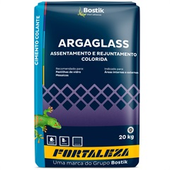 Argamassa para Pastilha de Vidro Argaglass 20 Kg Preto 810 - Usina Fortaleza