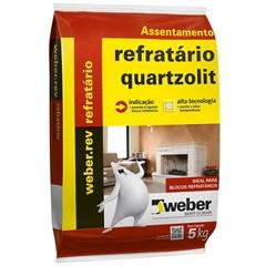 Argamassa Refratário Cinza 5kg - Quartzolit