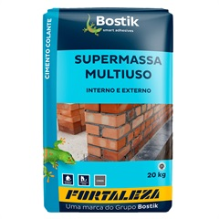 Argamassa Supermassa para Revestimento Cinza 20kg - Fortaleza