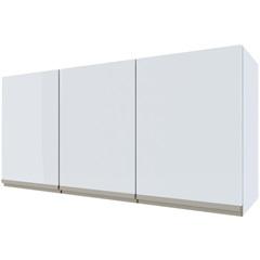 Armário Aéreo para Cozinha em Aço Gaia 115,2cm Branco - Cozimax