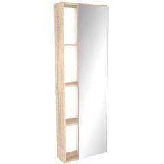 Armário com Espelho em Mdf Florença 121,5x40cm Mezzo Blanco - Darabas Agardi