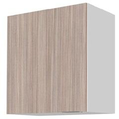 Armário de Cozinha Aéreo Blu Mdf 1 Porta Branco E Grigio 60x60cm  - Bumi Móveis