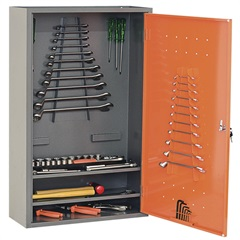 Armário de Parede em Aço para Ferramentas 95x60cm Cinza E Laranja - Presto