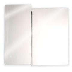 Armário em Aço Inox com Espelho Prata 53x50cm - H. Chebli