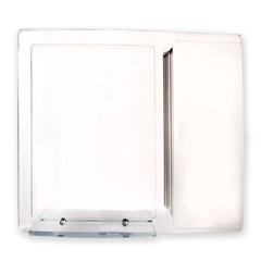 Armário em Aço Inox com Espelho Prata 74x65cm - H. Chebli
