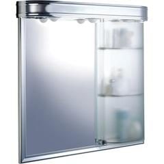 Armário em Alumínio para Banheiro de Sobrepor Master com 1 Porta E Iluminação Cromado - Cris Metal