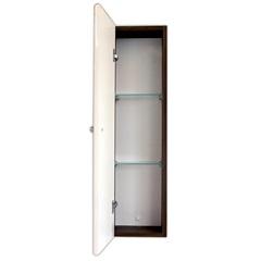 Armário Lateral para Banheiro 73x20cm Branco E Ébano - Fermar Scalline