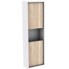 Armário Lateral para Banheiro em Mdf Módena 99,5x30cm Mezzo Blanco - Darabas Agardi