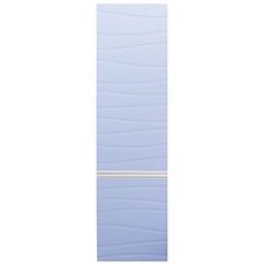 Armário Superior para Banheiro em Mdf Marsalo 39,5x125cm Branco E Azul Sereno - Mazzu