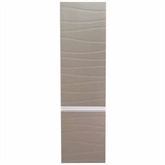 Armário Superior para Banheiro em Mdf Marsalo 39,5x125cm Branco E Fendi - Mazzu