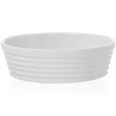Assadeira Redonda em Cerâmica Gourmet 20cm Branca - Casa Etna