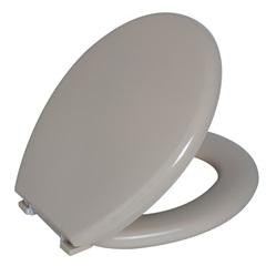 Assento Sanitário Almofadado Oval Bege - Astra