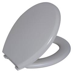 Assento Sanitário Almofadado Oval Bege Claro - Astra