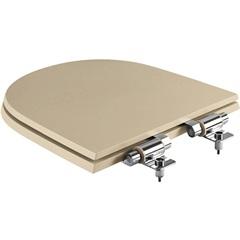 Assento Sanitário em Poliéster Soft Close Smart Bege Fosco - Policlass