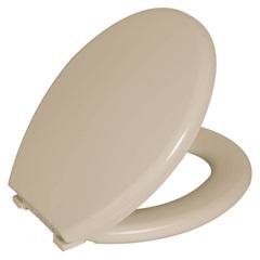Assento Sanitário Oval Almofadado Bege - Astra