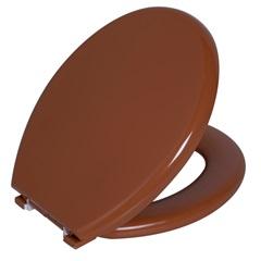Assento Sanitário Oval Almofadado Caramelo - Astra