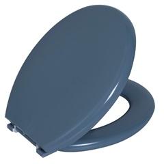 Assento Sanitário Oval Almofadado Cinza Escuro - Astra