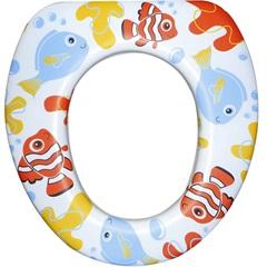 Assento Sanitário Oval Almofadado Infantil Peixe - Astra