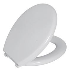 Assento Sanitário Oval em Polietileno Almofadado Branco