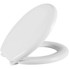 Assento Sanitário Oval em Polietileno Almofadado Branco - Astra
