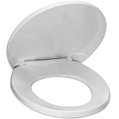 Assento Sanitário Universal Polipropileno Soft Close Branco - Tupan
