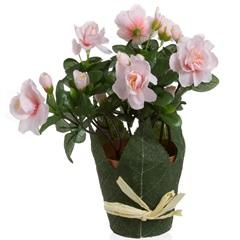 Azaleia Artificial 24cm Rosa - Casa Etna